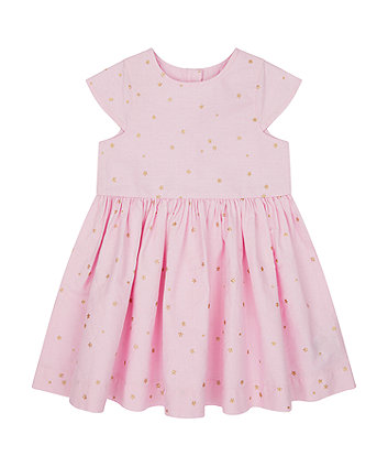 Mothercare Pink Star Woven Dress