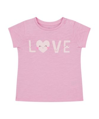 Mothercare Magical Rainbow Pink Love Uber Short Sleeve T-Shirt