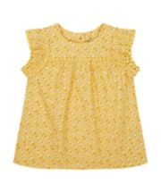 Mothercare Mustard Floral Blouse