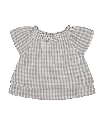 Mothercare Grey Gingham Blouse