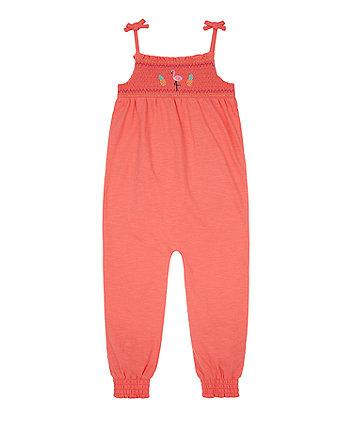 Mothercare Peach Flamingo Jumpsuit
