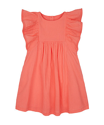 Mothercare Peach Butterfly-Sleeve Dress
