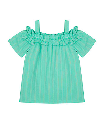 Mothercare Turquoise Striped Blouse