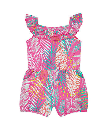 Mothercare Pink Tropical Playsuit