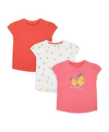 Mothercare Best Lemon Friends T-Shirts - 3 Pack