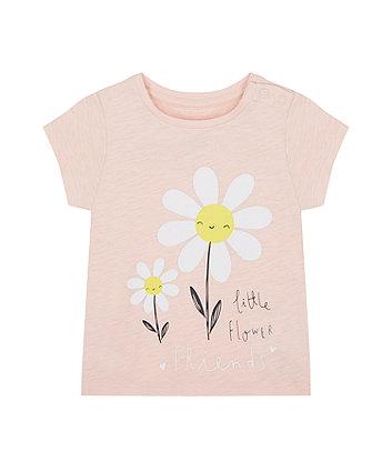 Mothercare Little Flower Friends T-Shirt