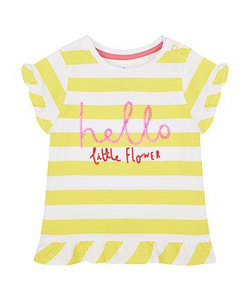 Mothercare Hello Little Flower T-Shirt