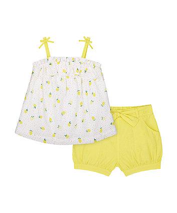 Lemon Blouse And Shorts Set [SS21]