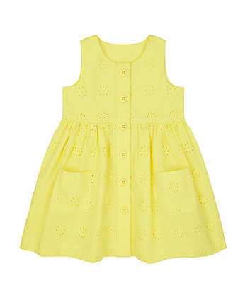 Mothercare Yellow Broderie Dress