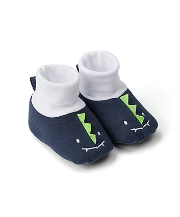 Mothercare Dino Sock Top Baby Booties