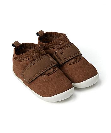 Mothercare Tan Crawler Shoes