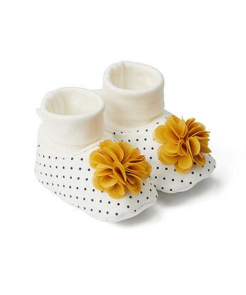 Mothercare Flower Corsage Sock Top Baby Booties