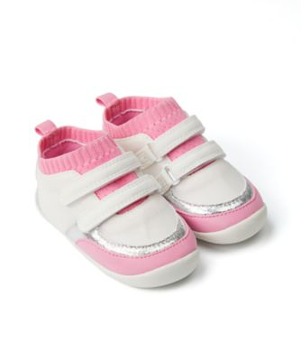 Mothercare Baby Girl Pink Sporty Crawler - First Walker