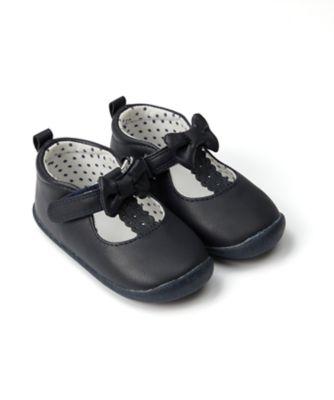 Mothercare Baby Girl Navy Tbar Crawler - First Walker