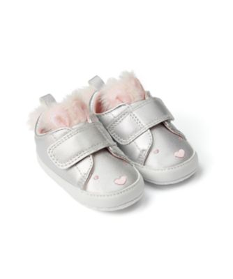Mothercare Baby Girl Silver 3D Bunny Trainer