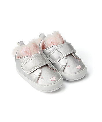 Mothercare Silver Bunny Pram Trainers
