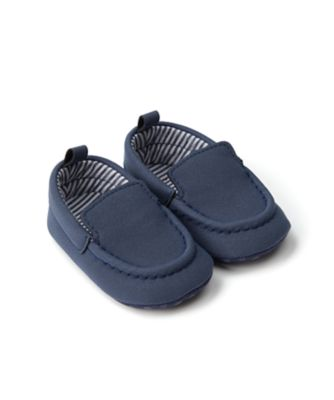 Mothercare Baby Boy Navy Mocasson Pram Shoe