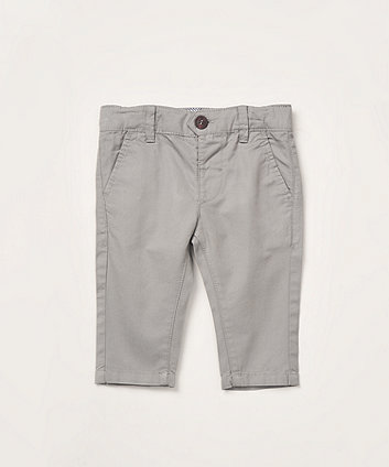 Mothercare Grey Twill Chino Trousers