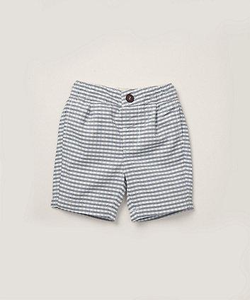 Mothercare Navy Gingham Check Shorts