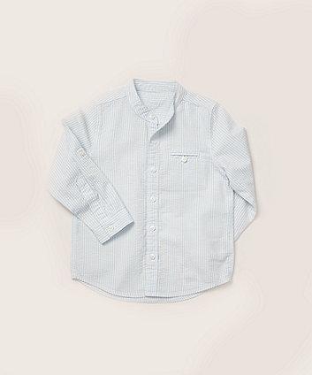 Mothercare Blue Striped Grandad Shirt