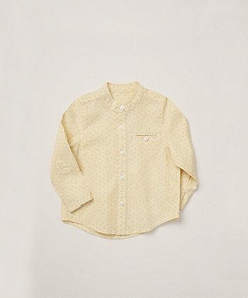 Mothercare Yellow Printed Grandad Shirt