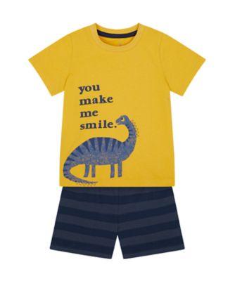 Mothercare Boys You Make Me Smile Shortie Pyjamas