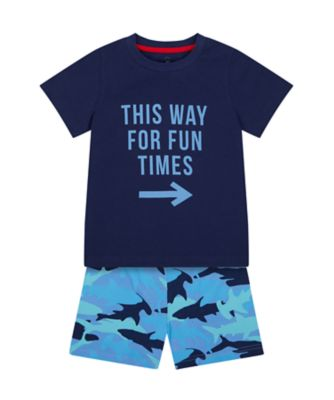 Mothercare Boys Fun Times Shortie Pyjamas