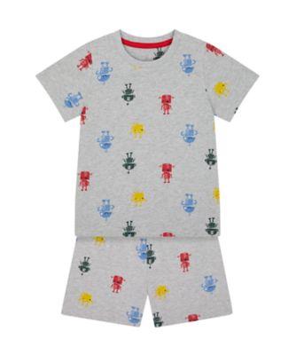 Mothercare Boys Robot Shortie Pyjamas