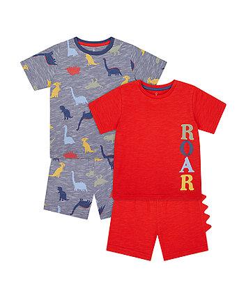 Mothercare Roar Shortie Pyjamas - 2 Pack
