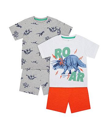 Dino Roar Shortie Pyjamas - 2 Pack [SS21]