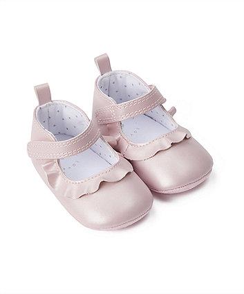 Mothercare Pink Pram Shoes