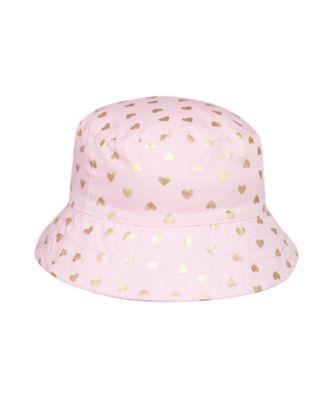 Mothercare Girls Love Heart Fisherman Hat