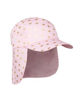 Mothercare Girls Pink Foil Loveheart Keppi
