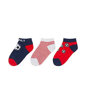 Mothercare Goal Socks - 3 Pack