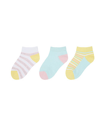 Mothercare Striped Socks - 3 Pack