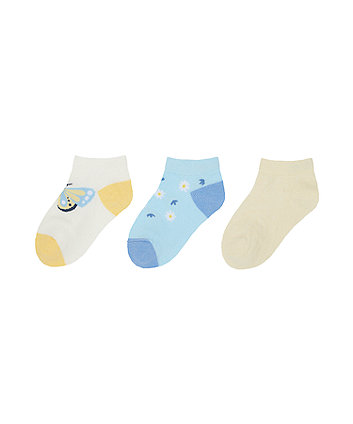 Mothercare Butterfly Socks - 3 Pack