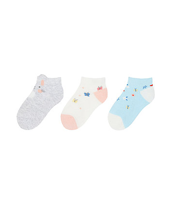 Mothercare Bunny And Ditsy Floral Socks - 3 Pack