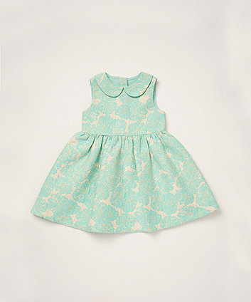 Mothercare Mint-Green Jacquard Dress
