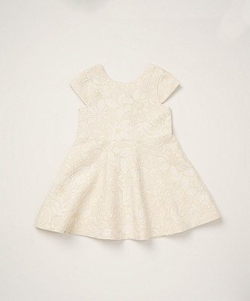 Mothercare Pink Floral Jacquard Dress