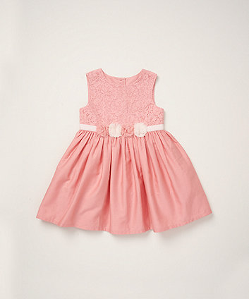 Mothercare Pink Lace Corsage Dress