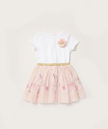 Mothercare Border-Print Twofer Dress