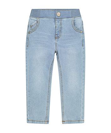 Mothercare Bleach-Wash Rib Waist Jeans