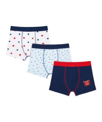 Mothercare Boys Crab Shorts - 3 Pack
