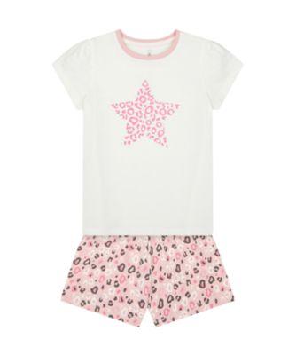 Mothercare Girls Pink Leapoard Shortie Pyjamas