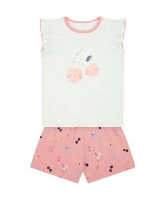 Mothercare Girls Pink Cherry Shortie Pyjamas