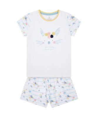 Mothercare Girls Bunny Shortie Pyjamas