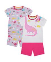 Mothercare Dino Shortie Pyjamas - 2 Pack
