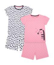 Zebra Shortie Pyjamas - 2 Pack [SS21]