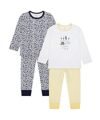Mothercare Bunny Pyjamas - 2 Pack