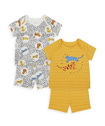 Mothercare Dotty Leopard Shortie Pyjamas - 2 Pack